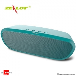 Zealot S9 2400mAh Portable Wireless Bluetooth Speaker Bass Supported Hands-free TF Card AUX Green Colour