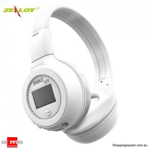 Zealot B570  Bluetooth 3.0 Wireless EDR Stereo Headset Headphone Supported FM TF LED Indicator White Colour