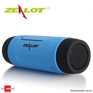 Zealot S1 Wireless Bluetooth Speaker Dustproof Waterproof Flashlight FM Power Bank Multi F Blue Colour