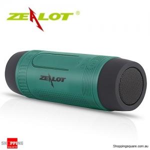 Zealot S1 Wireless Bluetooth Speaker Dustproof Waterproof Flashlight FM Power Bank Multi F Green Colour