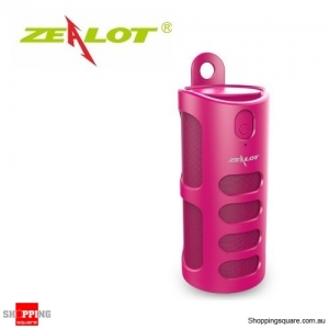 Zealot S8 4000mAh Touch Control Bass 3D TF Card Hands-free AUX Wireless Bluetooth Speaker Power Bank Pink Colour