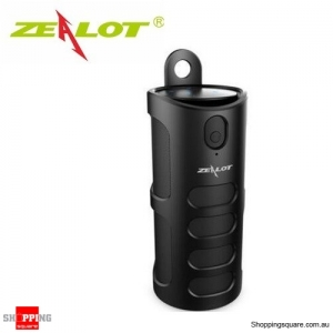 Zealot S8 4000mAh Touch Control Bass 3D TF Card Hands-free AUX Wireless Bluetooth Speaker Power Bank Black Colour