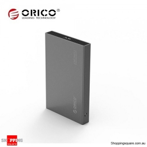 ORICO 2518S3 USB 3.0 to SATA 3.0 Tool Free Hard Drive Enclosure for 2.5inch HDD SDD Grey Colour