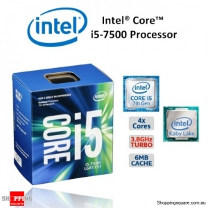 Intel Processor S1151 Core i5 7500 3.4GHz Quad Core CPU PC Computer 7th Generation BX80677I57500