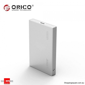 ORICO 2518S3 USB 3.0 to SATA 3.0 Tool Free Hard Drive Enclosure for 2.5inch HDD SDD Silver Colour