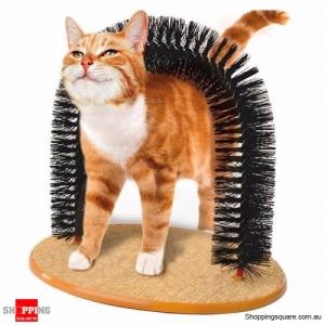 Cat Kitten Self-Groomer Arch Bristles Massager Scratcher Cleaning Carpet