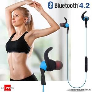 Bluetooth 4.2 Wireless Stereo Sports Earphone Blue Colour