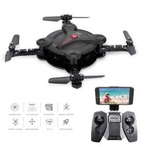 FQ777 FQ17W WIFI FPV Foldable Pocket Drone Quadcopter With 0.3MP Camera - Black Colour