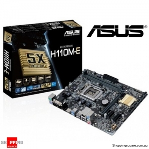 ASUS H110M-E Motherboard with 2 DDR4 Slot Intel H110 Chipset SATA3 Ports Front USB 3.0