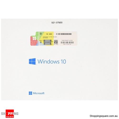 Microsoft Windows 10 Pro 64bit OEM DVD