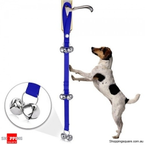 Pet Dog Training Doorbell Training Bell Rope Pet Supplies Blue Colour