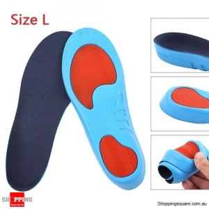 Sports Correction Soft Breathable Military Training PU Insoles Size L
