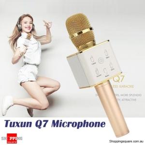 TUXUN Q7 Bluetooth Portable Wireless Microphone KTV Music KARAOKE With Speaker