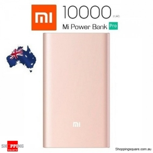 Genuine Xiaomi 10000mAh Power Bank Pro QC3.0 Polymer with Type-C Output For Mi 5s Android LGG6 Gold Colour