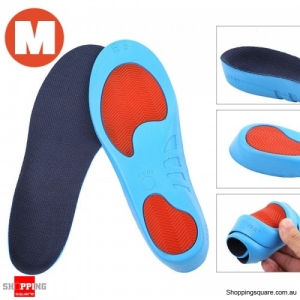Correction Soft Breathable Athletes Sports Training PU Insoles for Shoes Size M