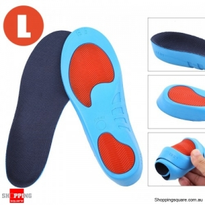 Correction Soft Breathable Athletes Sports Training PU Insoles for Shoes Size L