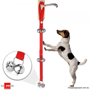 Pet Dog Training Doorbell Training Bell Rope Pet Supplies Red Colour