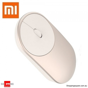 Genuine Xiaomi Wireless Bluetooth 4.0 2.4G Dual Modes Mouse for Notebook Gold Colour