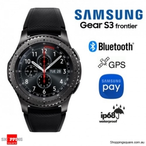 Samsung Galaxy Gear S3 R760 Gear S3 Frontier Smart Watch Wi-Fi Bluetooth Black