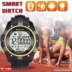Xwatch Bluetooth 4.0 Outdoor Sport Waterproof Smart Wrist Watch Bracelet Pedometer Tracker Health Yellow Colour