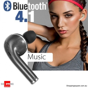 Wireless Earbud Bluetooth 4.1 Earphone Mini Headset Headphone for iPhone 7 6 6s Black Colour