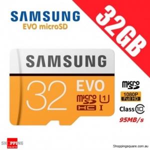 Samsung EVO 32GB micro SD SDHC Class 10 UHS U1 Memory Card 95MB/s Full HD FHD (2017)