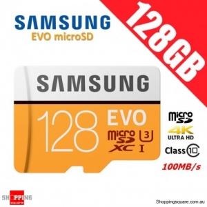 Samsung EVO 128GB microSDXC Class 10 U3 Memory Card 100MB/s (MB-MP128G)