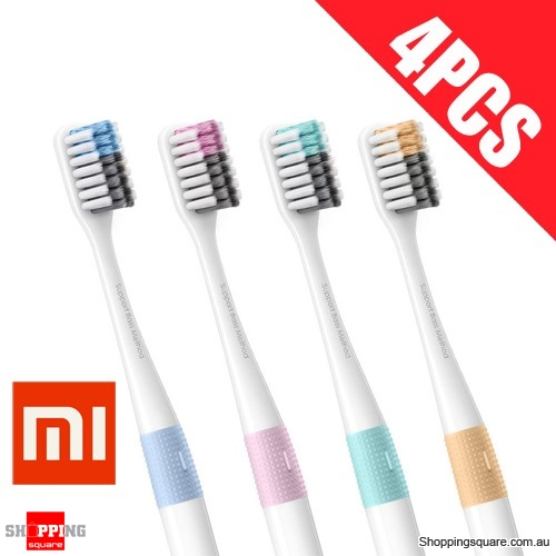 4Pcs of Xiaomi Soft Toothbrush with Handle & Travel Box Eco-friendly