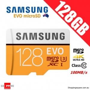 Samsung EVO 128GB microSDXC Class 10 UHS U3 Memory Card 100MB/s 4K Ultra HD (2017)