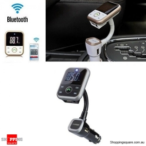 Wireless Bluetooth Handsfree Car Kit LCD FM Transmitter USB Chargers MP3 + Remote Black Colour
