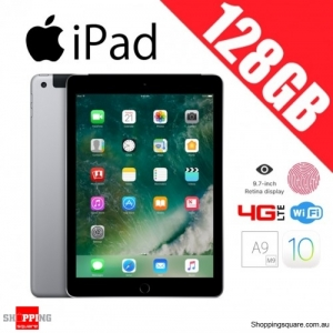 Apple iPad 128GB 9.7 Inch WiFi + 4G LTE Cellular Tablet PC Space Gray