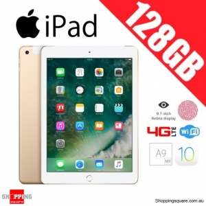 Apple iPad 128GB 9.7 Inch WiFi + 4G LTE Cellular Tablet PC Gold