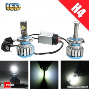 1 Pair of 8-48V 30W H4 LED 6000lm Motorcycle Headlight Hi/lo Beam DRL Waterproof Work Light