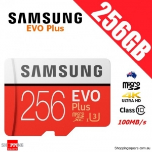 Samsung EVO Plus 256GB microSDXC Memory Card UHS-I U3 100MB/s 4K Ultra HD