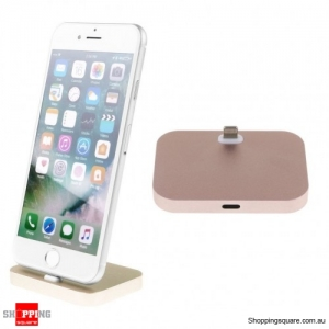 Charger Charging Dock Stand Station Cradle Mount For Apple iPhone 5 6 6s 7 Plus Gold Colour