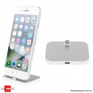 Charger Charging Dock Stand Station Cradle Mount For Apple iPhone 5 6 6s 7 Plus Silver Colour