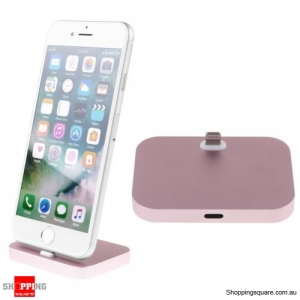 Charger Charging Dock Stand Station Cradle Mount For Apple iPhone 5 6 6s 7 Plus Rose Gold Colour