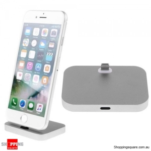 Charger Charging Dock Stand Station Cradle Mount For Apple iPhone 5 6 6s 7 Plus Grey Colour