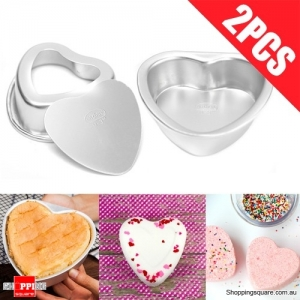 Heart Shape Metal Crafting Fizzy Bath Bomb Mold for DIY Food Cupcake Baking