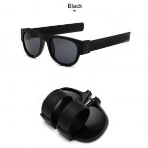 Slap Bracelets Polarized UV 400 Sunglasses - Black
