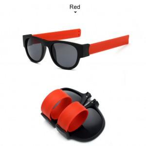 Slap Bracelets Polarized UV 400 Sunglasses - Red