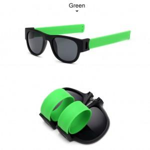 Slap Bracelets Polarized UV 400 Sunglasses - Green