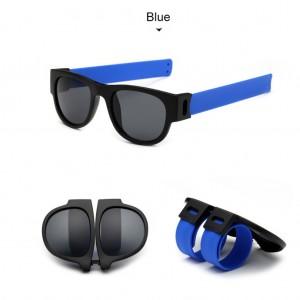 Slap Bracelets Polarized UV 400 Sunglasses - Blue