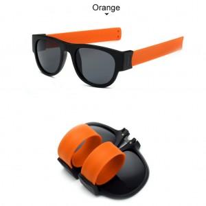 Slap Bracelets Polarized UV 400 Sunglasses - Orange