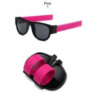 Slap Bracelets Polarized UV 400 Sunglasses - Pink