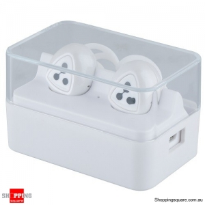 SYLLABLE D900 Mini Wireless Earbuds Bluetooth Headphones w/ Mic Charging Box White Colour