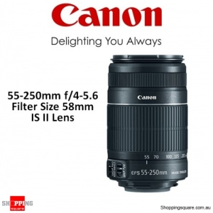 Canon EF-S 55-250mm f/4-5.6 IS II (white box) DSLR Camera Lens