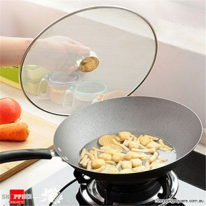 25cm Stainless Steel Pan Cover Lid Splatter Screen with Folding Handle for Kitchen Food Cooking