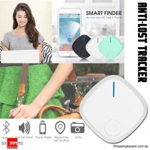 Mini Bluetooth 4.0 Smart Alarm Anti-Lost Key Finder Tracker Selfie Controller White Colour
