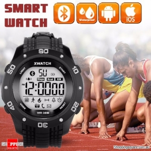 Xwatch Bluetooth 4.0 Outdoor Sport Waterproof Smart Wrist Watch Bracelet Pedometer Tracker Health Black Colour
